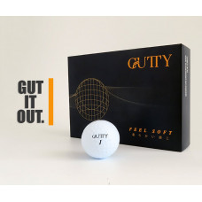 Gutty Feel Soft Golf Ball with Deemples Logo