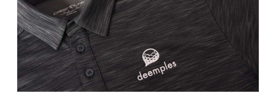 Deemples Crest Link Golf Shirt Black